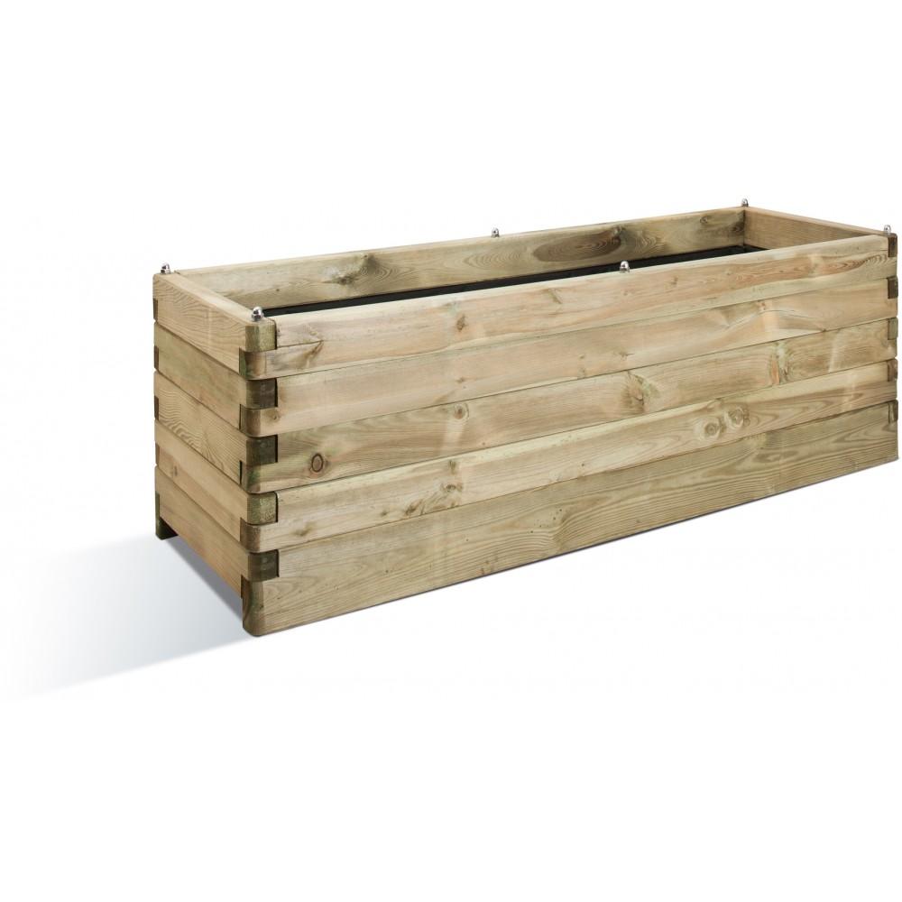 Jardinière En Bois En Hauteur jardinière en bois - 50 x 150 cm - 208 litres - oléa 150 jardipolys sur  bricozor