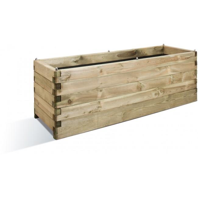 Jardinière en bois - 50 x 150 cm - 208 litres - Oléa 150 JARDIPOLYS