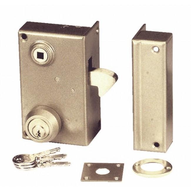 Serrure portail coulissant mentonnet cylindre rond - Serrure pour portail coulissant ...