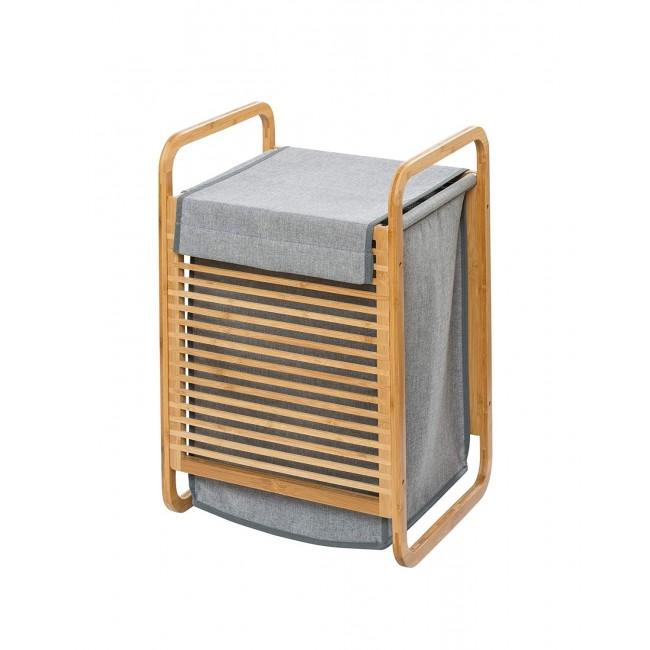 Panier à linge - Bahari - Structure bambou et sac amovible - 43 L WENKO