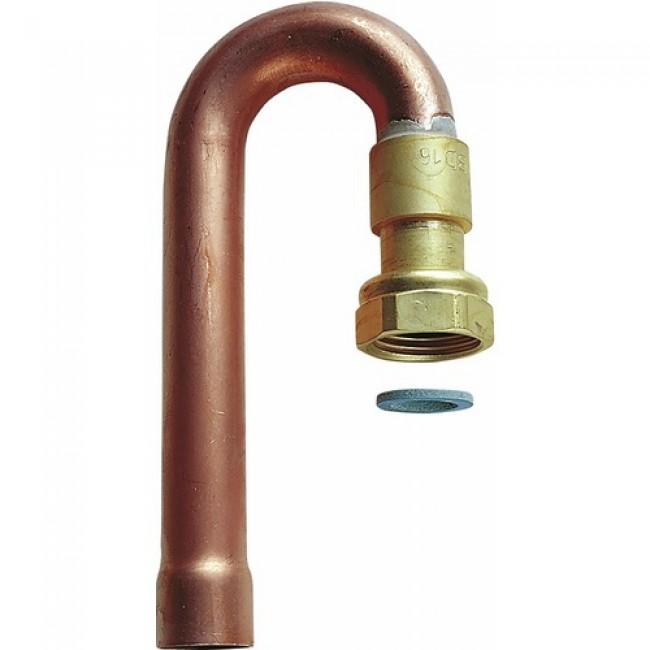 Coude à 180° à joint plat pour vanne d'arrêt gaz naturel CLESSE