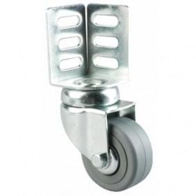 Roulette pivotante polyamide fixation par cornière d'angle TENTE