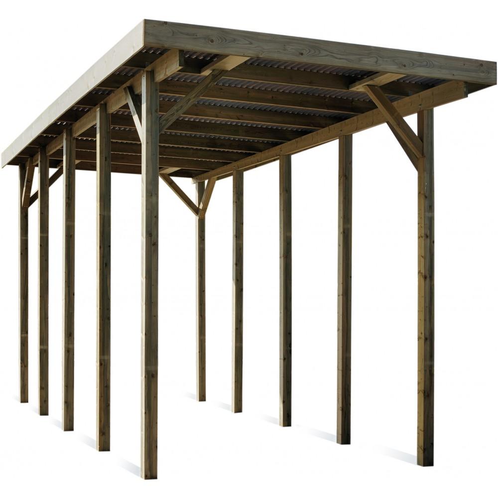 carport en bois pour camping car 25 7 m bricozor. Black Bedroom Furniture Sets. Home Design Ideas