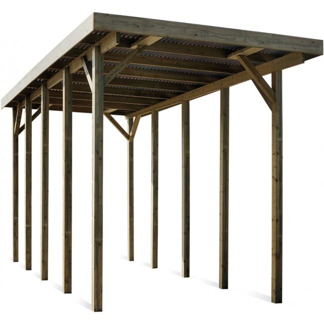 Carport en bois pour camping car - 25,7 m² JARDIPOLYS