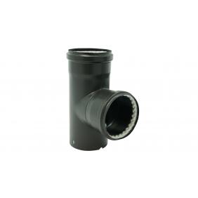 Té acier émail noir à 90° - deux joints fibre de verre TEN