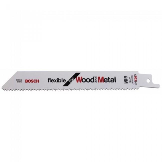 Lame de scie sabre bi-métal pour bois avec clous - S 922 HF BOSCH