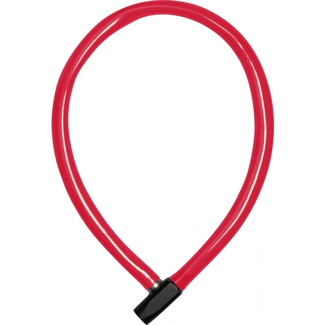 Câble antivol de vélo en acier avec revêtement PVC - à clé - 65 cm - 650 ABUS