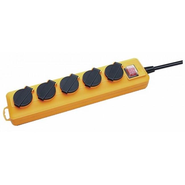 Multiprise Pro extéreiure à clapets avec interrupteur - Pro-Line - 5 prises BRENNENSTUHL