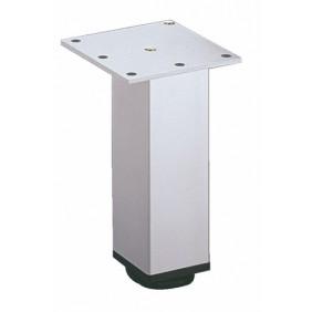 Pied de meuble carré en aluminium 46 x 46 HETTICH