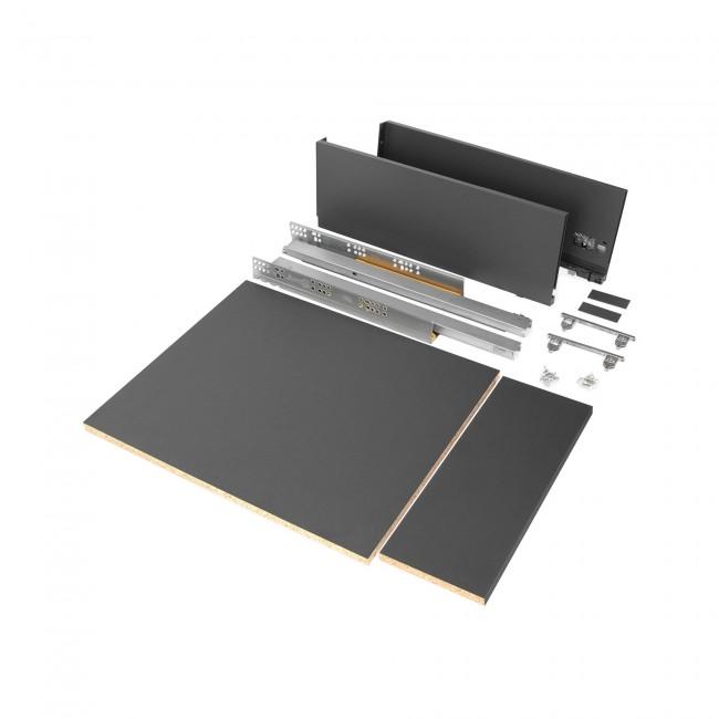 Kit tiroir complet Vertex - hauteur 178 mm - gris anthracite EMUCA