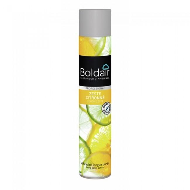 Désodorisant en aérosol - pulvérisation sèche - Boldair citron Boldair