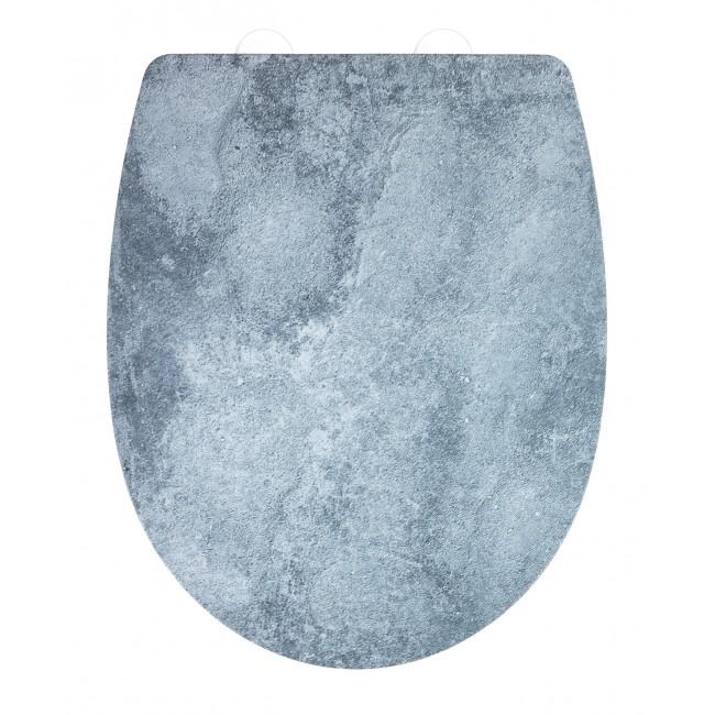 Abattant WC - Cement - Easy Close et Fix Clip WENKO