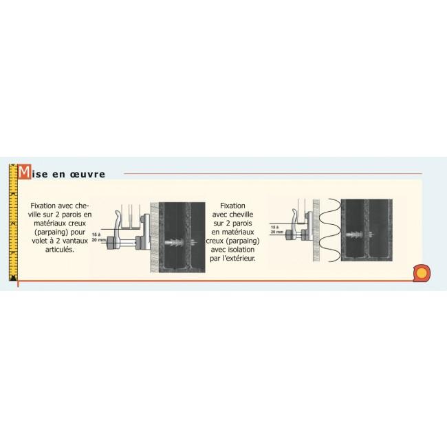 arr t de volet composite pour volets alu et pvc torbel bricozor. Black Bedroom Furniture Sets. Home Design Ideas