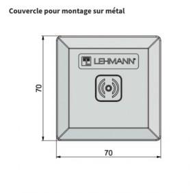 Cache avant pour serrure électronique à badge Mifare - porte métallique LEHMANN