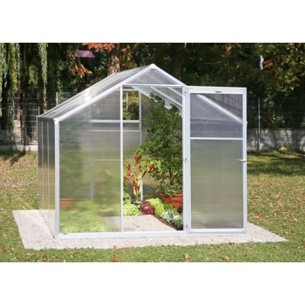 Serre de jardin polycarbonate 4 mm 7 19m2 genial iv bricozor - Serres de jardin adossees ...