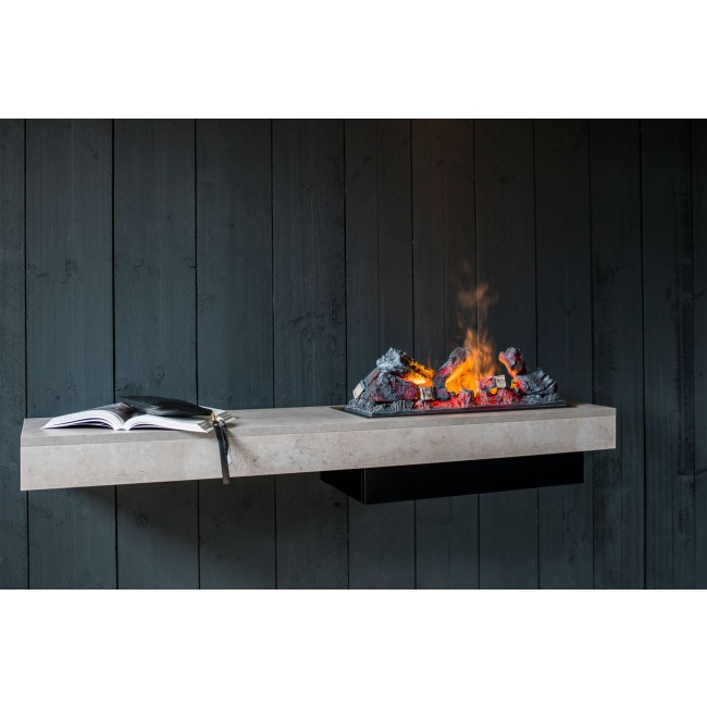 Cheminé décorative / Etagère - feu gris effet béton  - Concrete Shelf GLEN DIMPLEX