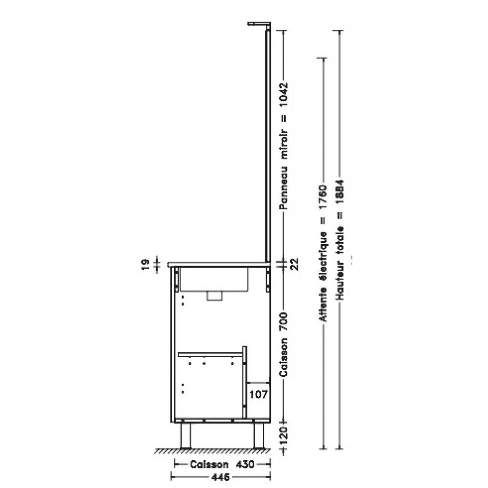 Meuble de salle de bains complet largeur 60 cm angelo - Meuble de salle de bain complet ...