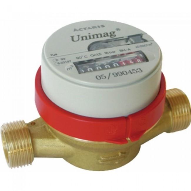 Compteur eau divisionnaire cadran sec - M20x27 - Eau chaude ITRON