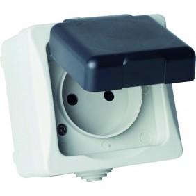 Prise électrique étanche IP44 - 10/16 A BRICOTOP