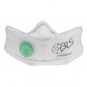 Demi-masque filtrant - jetable - avec valve - charbon actif - FFP2 BLS