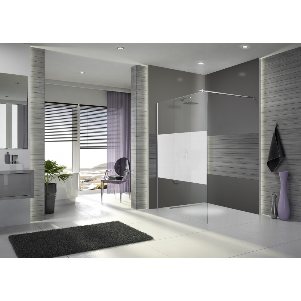 paroi de douche l 39 italienne open 2 verre s rigraphi 140 cm leda bricozor. Black Bedroom Furniture Sets. Home Design Ideas