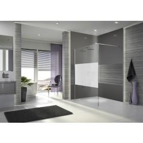 Paroi de douche à l'italienne Open 2 - verre sérigraphié - 140 cm LEDA