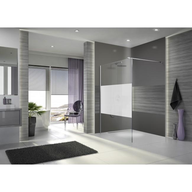 Paroi de douche à l'italienne Open 2 - verre sérigraphié - 120 cm LEDA