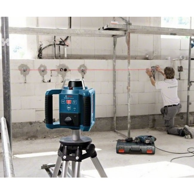 Laser rotatif automatique grl 300 hv cellule de r ception for Niveau laser exterieur bosch