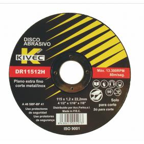 Disque à tronçonner métal à moyeu déporté 115 x 2,5mm KIVEC
