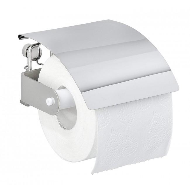Dérouleur papier WC - support mural avec couvercle - premium WENKO