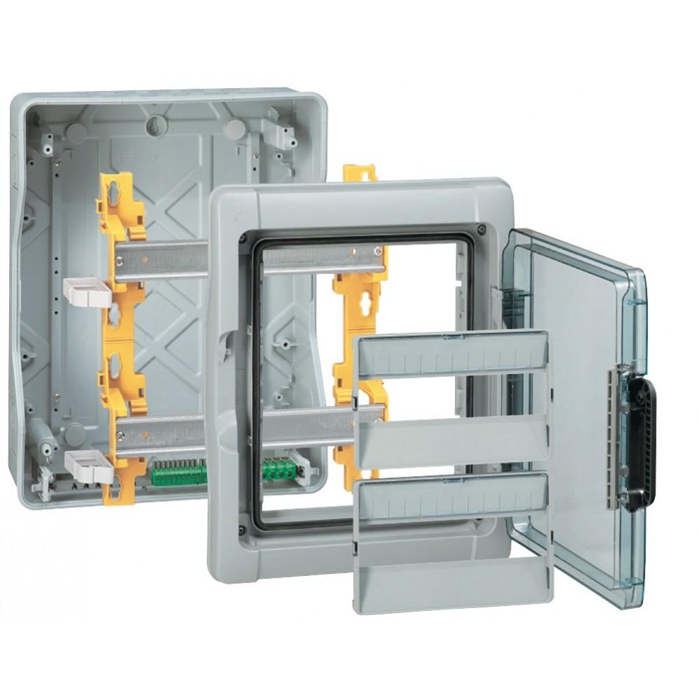 coffret lectrique tanche 1x4 modules 1 rang e plexo 3 legrand bricozor. Black Bedroom Furniture Sets. Home Design Ideas