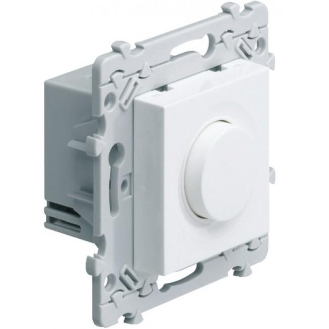 Variateur poussoir - Blanc - Compatible lampes éco - Essensya HAGER