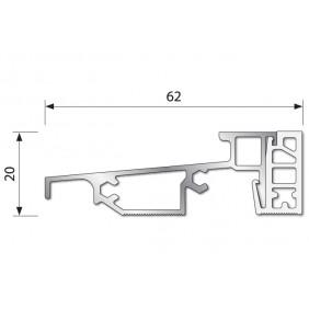Seuil PL 62 RT PVC pour menuiserie PVC ouvrant à l'intérieur BILCOCQ