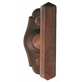 Bouton sur platine Bellac vieux fer BOUVET