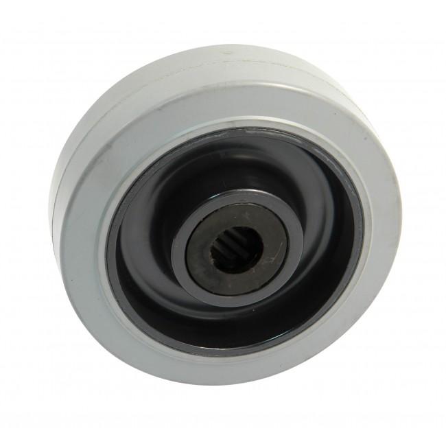 Roue à bandage caoutchouc gris - roulement à rouleaux - forte charge AVL