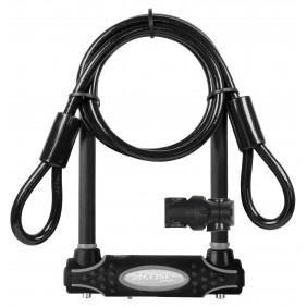 Antivol U certifié - acier cémenté - largeur 11cm - plus anse et câble MASTER LOCK