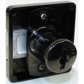 Serrure de meuble à palastre 391 pour cylindre Z23 - noir LEHMANN