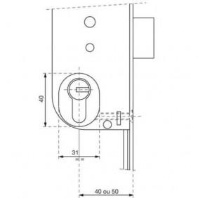 Module avec cylindre NT pour serrure 20000 A2P* VACHETTE
