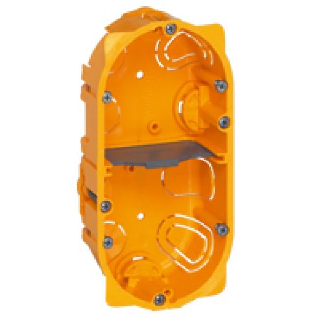 Boîte d'encastrement Batibox 2 postes pour cloisons sèches LEGRAND