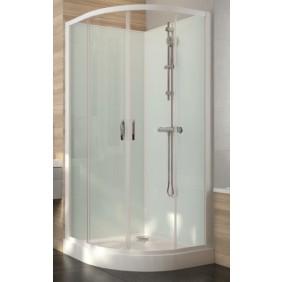 Cabine de douche - 1/4 de rond - à portes coulissantes - Iziglass 2 LEDA