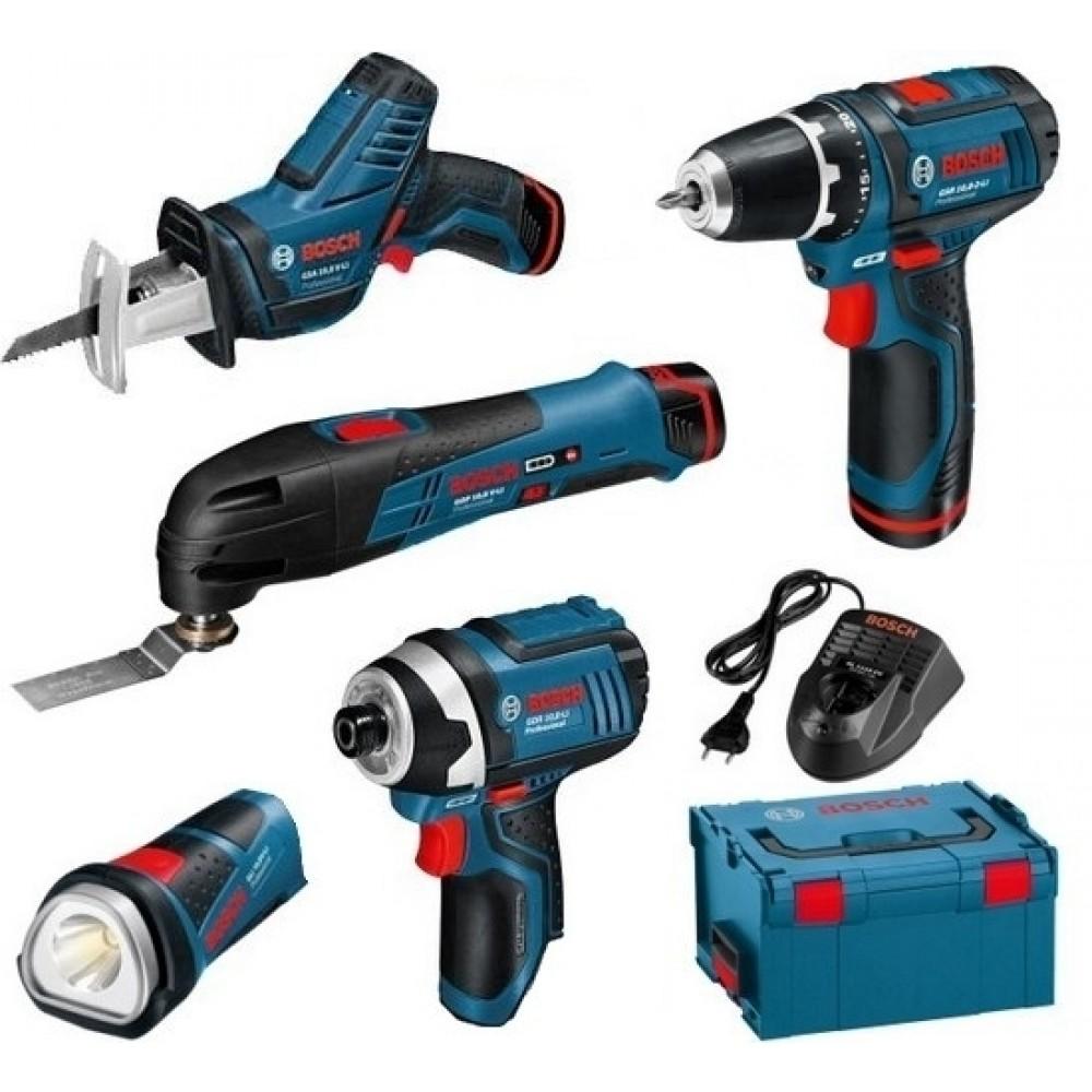 kit 5 outils 12 v 3 batteries 2 ah lithium ion 0615990k11 bosch bricozor. Black Bedroom Furniture Sets. Home Design Ideas