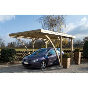 Carport en bois - 1 voiture - 16,3 m² - Milano Uno JARDIPOLYS