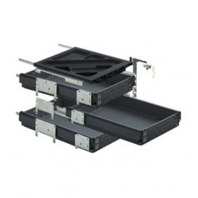 Caisson de bureau à tiroirs simples - kit complet - Systema HETTICH