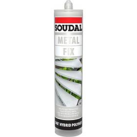 Mastic-colle polymère - pour matériaux lourds - METAL FIX SOUDAL