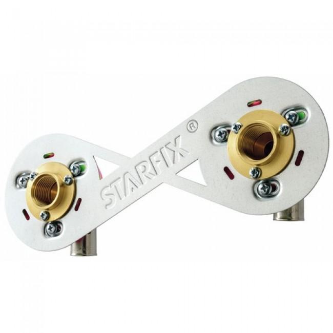 Kit de fixation pour robinetterie 15 x 21 mm - sur cloison - Starfix ANQUIER