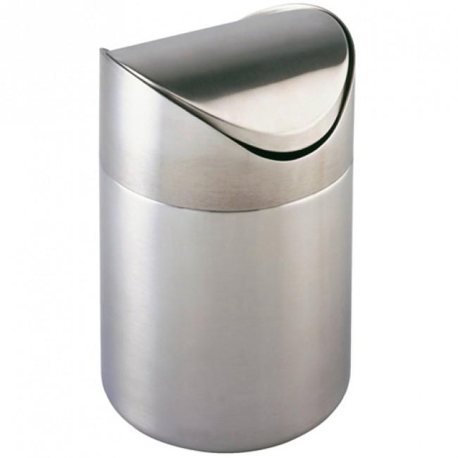 Poubelle avec couvercle à bascule - Otranto - inox - 3 litres WENKO