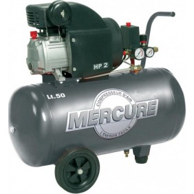 Compresseur d'air 50L 2HP MERCURE MECAFER