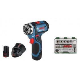 Visseuse sans fil 12 V-15FC Professional-06019F6005 + coffret vissage BOSCH
