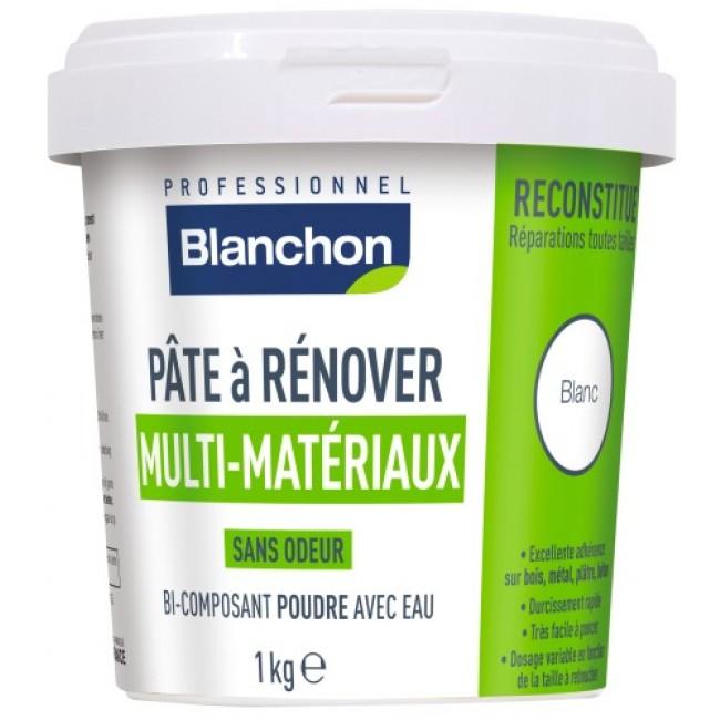 Pâte à rénover - multi-matériaux - poudre bi-composant à eau BLANCHON