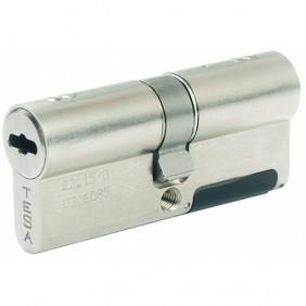 Cylindre électronique - Profil européen - Laiton nickelé - Série STA TESA Sécurité